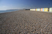 Beach huts seaford head sussex — Stock Photo