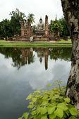 Seated buddha sukothai thailand — Stock Photo