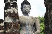 Buddha sukothai temple ruins thailand — Stock Photo