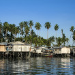 Mabul island stilt houses borneo — Stock Photo
