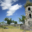 Cagsawa church ruins mayon volcano — Stock Photo