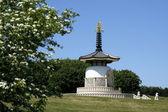 Peace pagoda milton keynes — Stock Photo