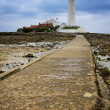 St marys lighthouse whitley bay — Stock Photo