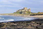 Bamburgh castle northumberland coast — Stock Photo
