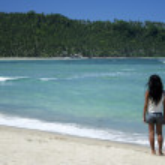 Philippines tropical beach girl — Stock Photo