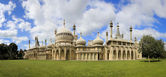 Royal pavillion panorama brighton — Stock Photo