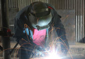The Welder — Stock Photo