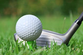 Golf ball and drive — Stock Photo