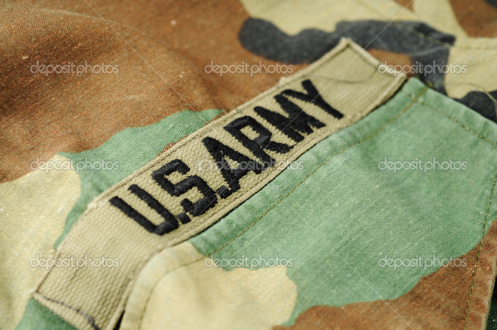 Macro shot of  a U.S. Army uniform shirt — Stock Photo #2844382