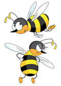 Two bees — Stock Vector