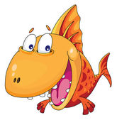 Fish smiles — Stock Vector