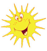 Funny sun — Stock Vector
