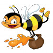 Royalty-Free Stock Imagem Vetorial: Bee flying