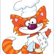 Stock Vector: Cat the cook