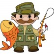 Fisherman — Stock Vector