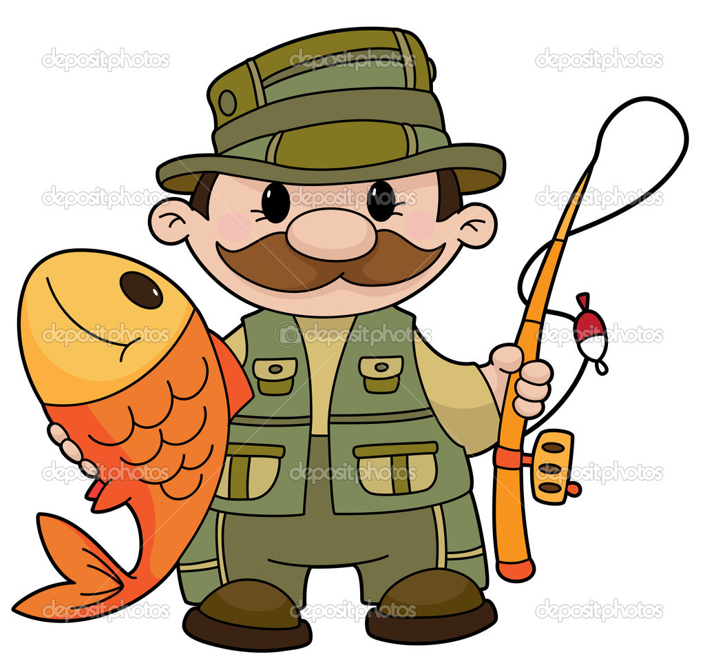 An illustration of a fisherman — Stock Vector #3214873