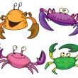 Stock Vector: Crabs