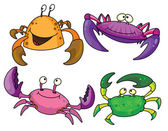 Crabs — Stock Vector