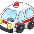 Stock Vector: Ambulance car
