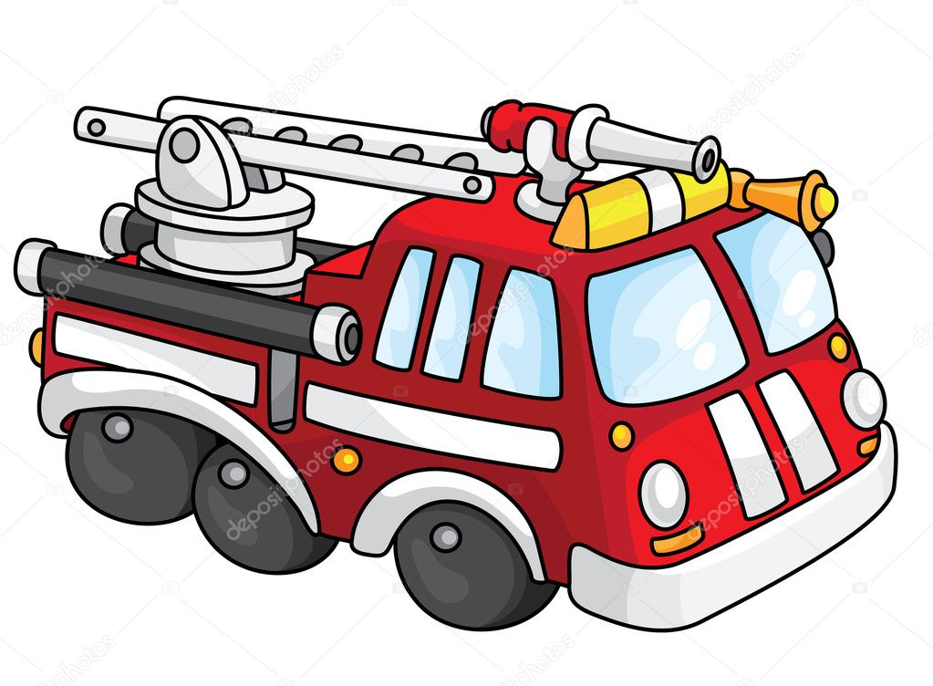 An illustration of a fire engine — Stock Vector #3308764