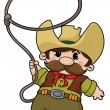 Royalty-Free Stock Vector Image: Cowboy with lasso