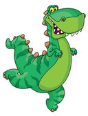 Hurry dinosaur — Stock Vector