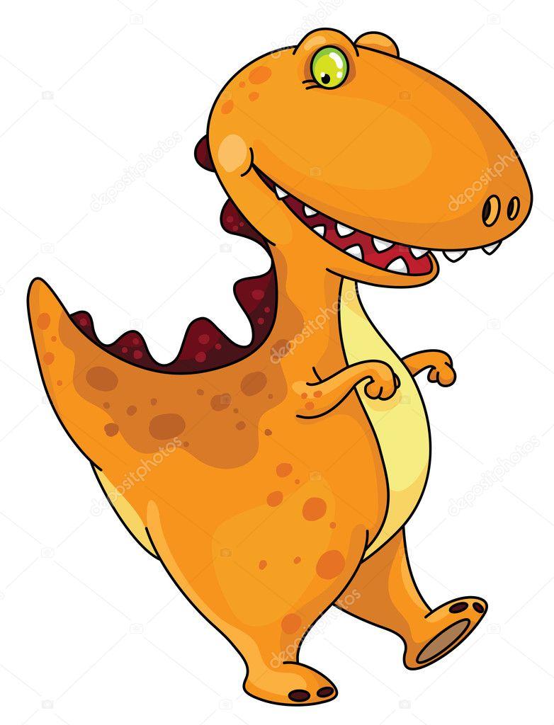 Funny dinosaur — stock vector polkan