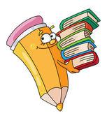 Bookish pencil — Stock Vector