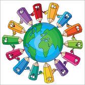 Ołówki świata — Wektor stockowy