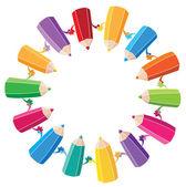 Pencils — Cтоковый вектор