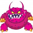 Stock Vector: Angry monster