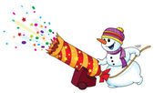 Holiday snowman — Stock Vector
