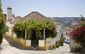 Typical house Obidos. — Stock Photo