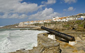 Cannon which defended the Ericeira — Stock Photo