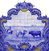 Tile panel in Vila Franca de Xira, Portu — Stock Photo