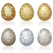 Easter eggs — Vector de stock