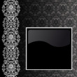 Royalty-Free Stock Vector Image: Black and silver background