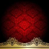 Roten Hintergrund — Stockvektor