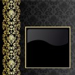 Black and gold background — Stock Vector