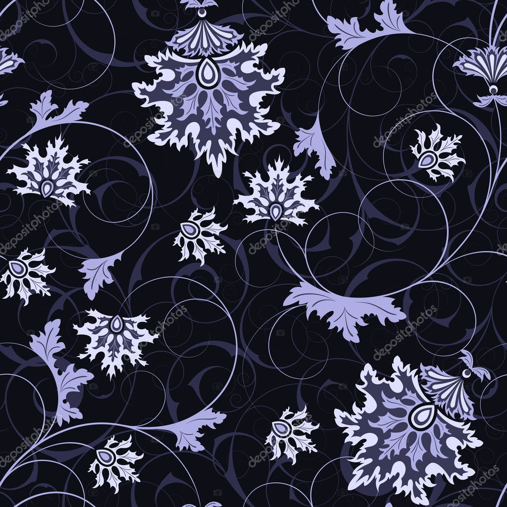 Seamless from abstract flowers and leaves(can be repeated and scaled in any size) — Stock Vector #3603735