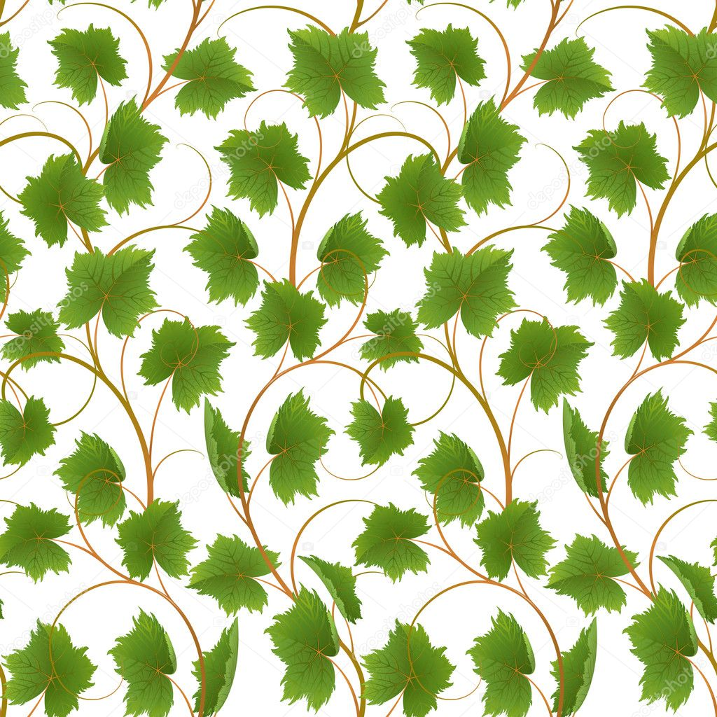 Seamless from leaves on a white background (can be repeated and scaled in any size) — Stock Vector #3603744