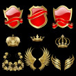 Royalty-Free Stock Immagine Vettoriale: Set of heraldic elements