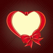 Heart to the St.Valentine — Vector de stock