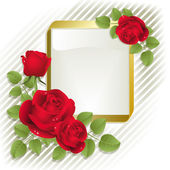 Roses with frame — Stock Vector