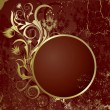 Royalty-Free Stock Vector Image: Brown background with   frame
