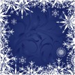 Stock Vector: Background with frosty patterns