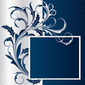 Blue background with frame — Stock Vector