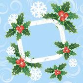 Kerstmis frame — Stockvector