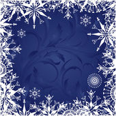 Background with frosty patterns — Stock Vector