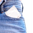Stock Photo: Condom in pocket